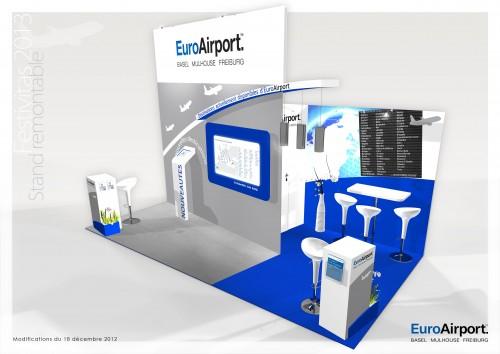 Stand sur mesure EuroAirport 2013 salon du Tourisme