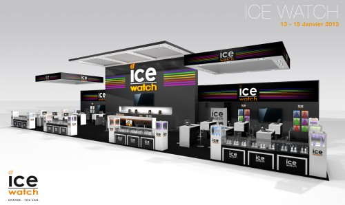 Conception de stand sur mesure ICE WATCH sur le salon PRINTOR