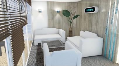 conception et aménagement d'un bureau sur le salon du Bourget