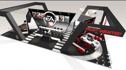 Stand sur mesure, architecture événementielle sur le salon des jeux vidéos Paris Games Week