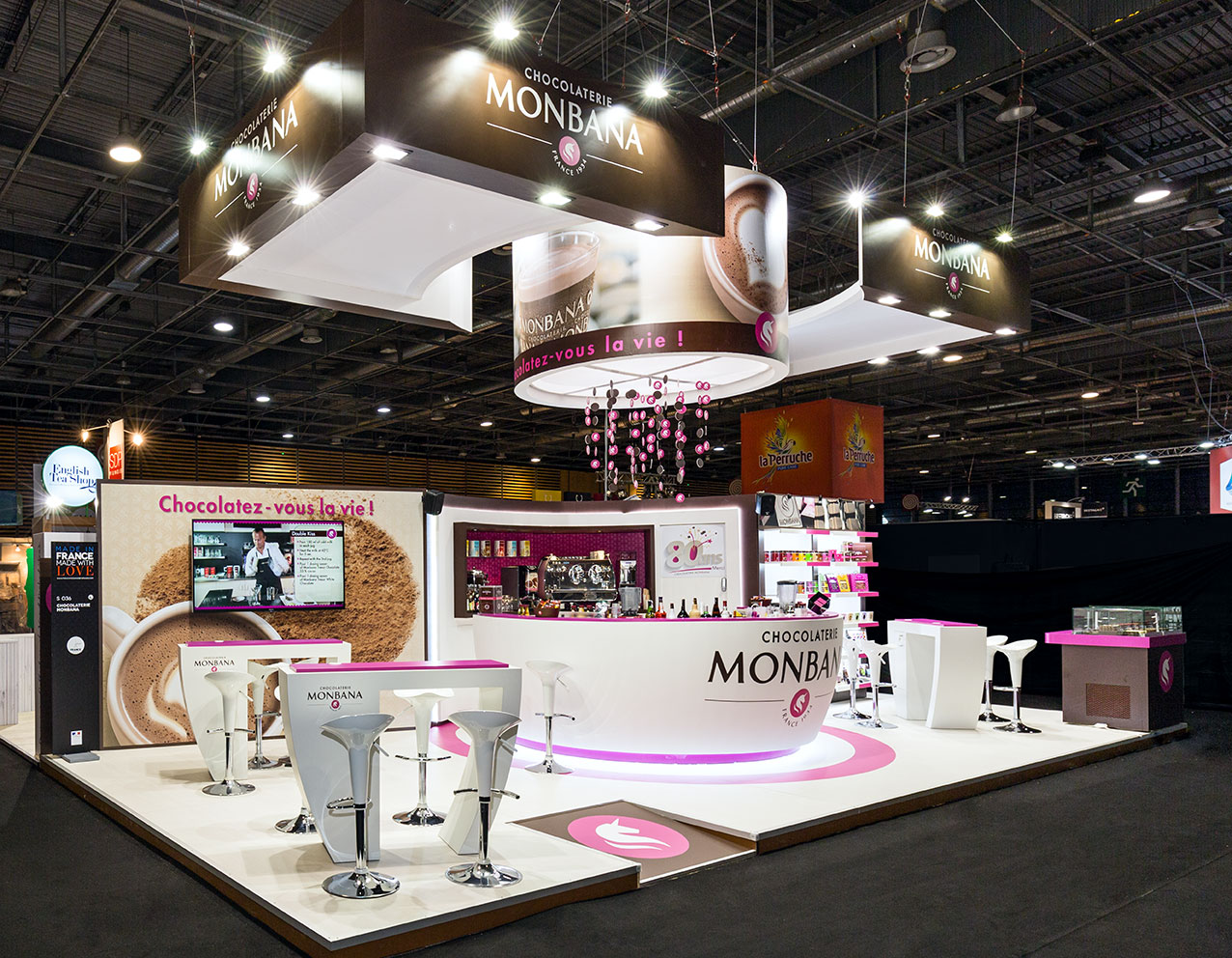 Agencement am nagement de stands de salon in 39 pulsion for Agencement de stand