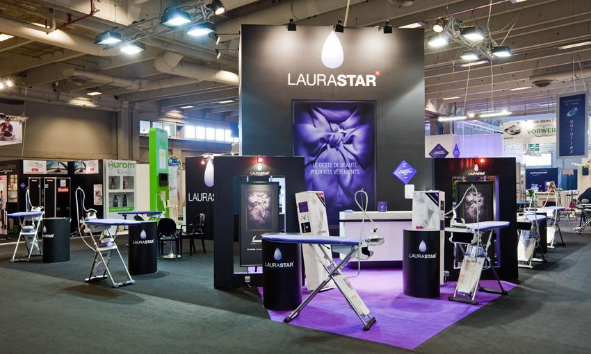 Laurastar stand sur mesure foire de paris in 39 pulsion for Stand pour foire