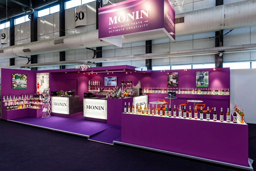 Stand monin stand r utilisable in 39 pulsion for Structure stand salon