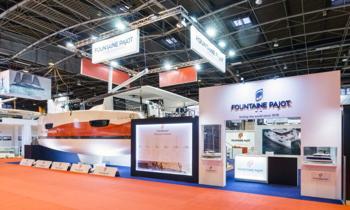 Fountaine Pajot par le standiste européen In'pulsion