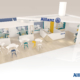 3D du stand Allainz au CID Deauville par In'pulsion