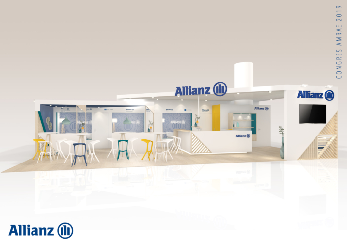 Conception du stand Allianz pour l'AMRAE à Deauville par In'pulsion