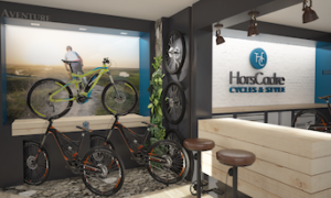 Expert agenceur magasin, une boutique de cycles création In'Pulsion
